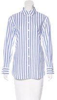 Equipment Striped Button-Up Top