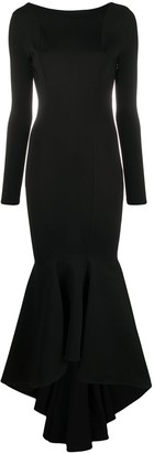 Alexandre Vauthier Asymmetric Peplum Midi Dress