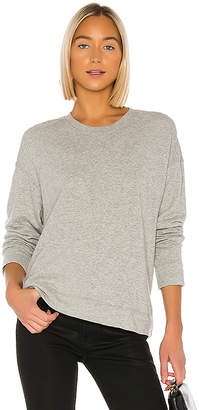 James Perse Relaxed Crop Pullover Sweatshirt