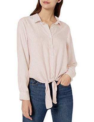 Goodthreads Modal Twill Tie-front Shirt Button,Medium