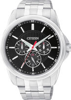 JCPenney Citizen Quartz Citizen Mens Black Dial Stainless Steel Watch AG8340-58E