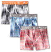 Toobydoo Star of Stripes 3-Pack Underwear Set Boy's Underwear