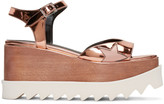 Stella McCartney Copper Platform Star Elyse Sandals