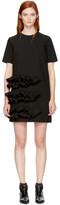 MSGM Black Ruffle Dress