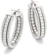 Saks Fifth Avenue Diamond & 14K White Gold Hoop Earrings