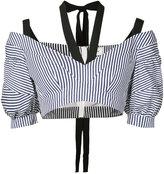 Erdem - 'Debra' striped cropped top
