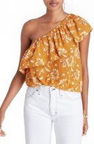 Madewell Women's Floral One-Shoulder Silk Tank
