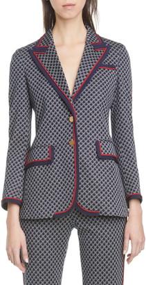 Gucci Square G-Logo Jacquard Knit Jacket