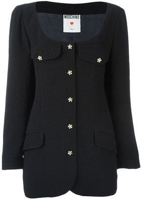 Moschino Pre-Owned Scoop Neck Jacket