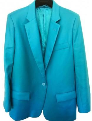 ATTICO Blue Cotton Jacket for Women