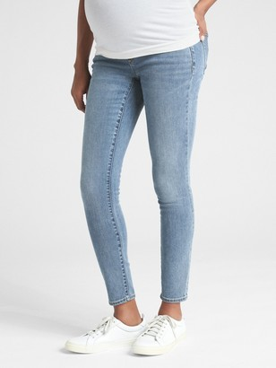 Gap Maternity Soft Wear Full Panel True Skinny Jeans