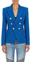 Balmain Women's Cotton Double-Breasted Blazer-BLUE