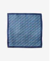 Express floral print silk pocket square