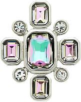 Monet Vitrail Glass Crystal Brooch, Silver/Multi