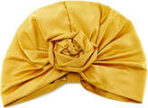 Jennifer Behr Rosette Silk-Satin Turban