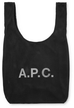A.P.C. Rebound Logo-Print Mesh Tote Bag