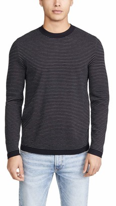 Theory Men's Long Sleeve Merino Wool Stripe Sweater