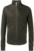 Rick Owens zipped leather jacket - men - Cotton/Calf Leather/Cupro - 52