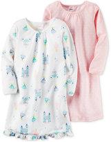 Carter's 2-Pk. Princess & Stars Nightgown Set, Little Girls (2-6X) & Big Girls (7-16)