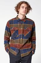 Brixton Weldon Plaid Flannel Long Sleeve Button Up Shirt