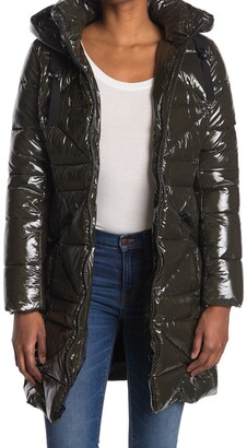 Kensie Shiny Puffer Coat
