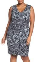 Tart Plus Size Women's Margaux Twist Front Sheath Dress