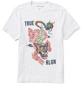 True Religion Short-Sleeve Crew Neck Guardian Graphic Tee