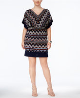 Sangria Plus Size Dolman-Sleeve Sheath Dress