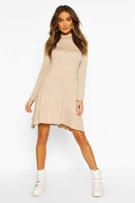 boohoo Roll Neck Swing Dress