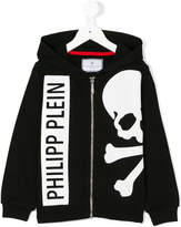 Philipp Plein Junior skull and crossbones hoodie
