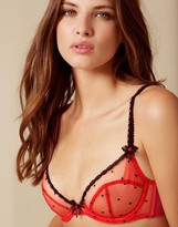 Agent Provocateur Poppie Bra Red And Black