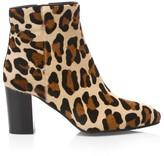 Aquatalia Florita Leopard-Print Calf Hair Ankle Boots