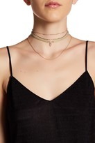Stephan & Co Leather & Chain Layered Choker