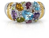 Effy Jewelry Effy 925 Sterling Silver & 18K Gold Multi Gemstone Ring, 2.85 TCW