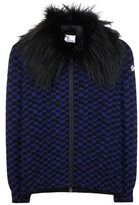 Moncler Fur-trimmed Wool And Cashmere Jacket