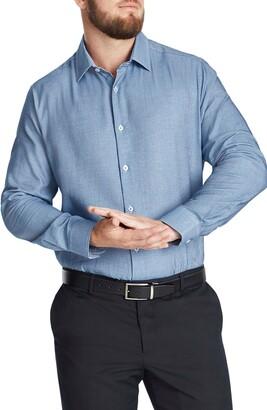 Johnny Bigg Lawrence Regular Fit Jacquard Button-Up Shirt
