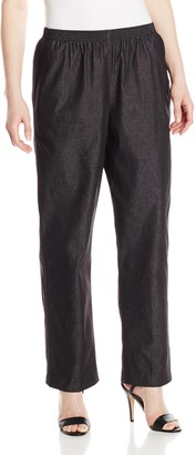 Alfred Dunner Women's Petite Black Denim Proportioned Medium Pant