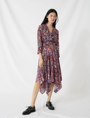 Maje Floral wrap dress
