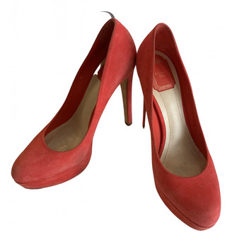 Christian Dior Red Suede Heels