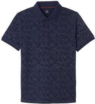 La Redoute Collections Cotton Pique Printed Polo Shirt