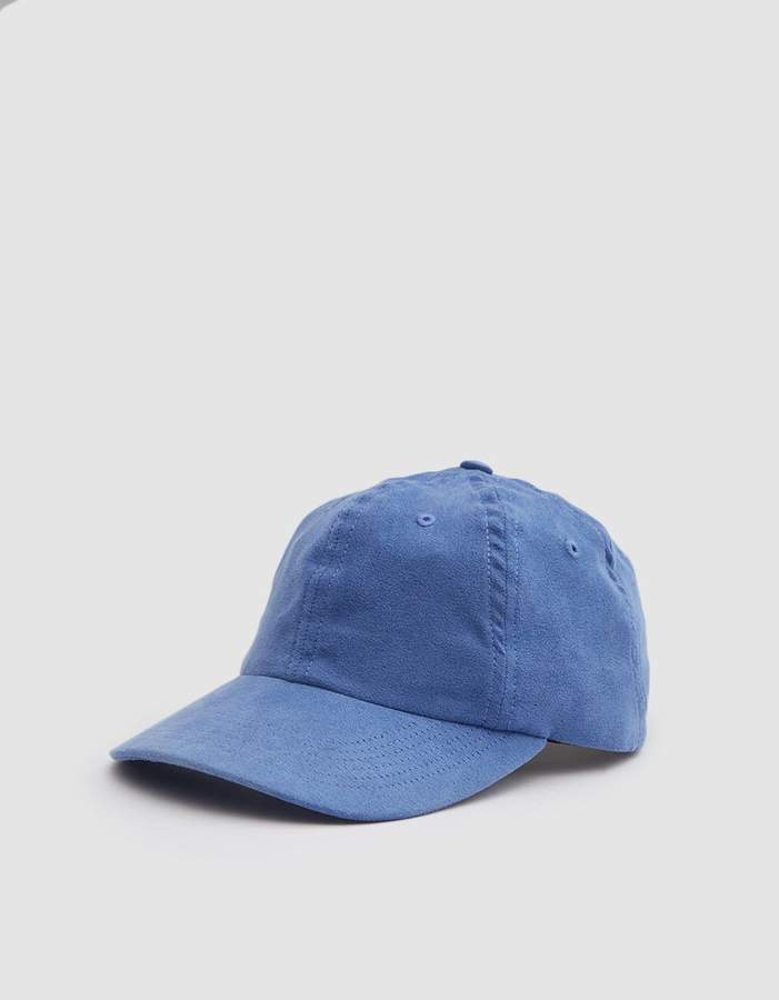 Norse Projects Fake Suede Sports Cap in Luminous Blue