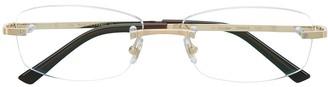 Cartier Frameless Square Glasses