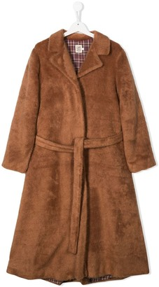 Caffe' D'orzo TEEN Betti faux-fur coat