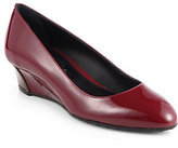 Tod's Patent Leather Wedge Pumps