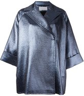 Gianluca Capannolo metallic oversized short coat - women - Cotton/Acrylic/Polyamide/other fibers - 38