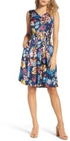 Ellen Tracy Women's Chiffon Fit & Flare Dress