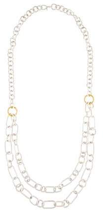 Gurhan Two-Tone Hoopla Double Strand Bib Necklace
