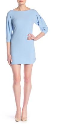 Vince Camuto Textured Crepe 3/4 Sleeve Sheath Dress (Petite)