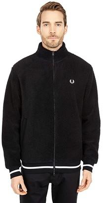 Fred Perry Borg Zip Through Fleece Jacket (Black) Men's Clothing