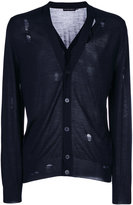 Alexander McQueen distressed cardigan - men - Silk/Wool - M